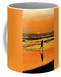 Coffee Mug featuring the photograph Run To The Sun by Howard Bagley