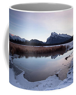 Rundle Mountain Reflections Coffee Mug