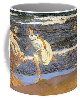 Running Along The Beach Coffee Mug
