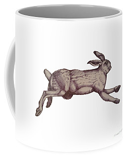 Coffee Mug featuring the drawing Running Bunny Jan 27 by Donna Huntriss