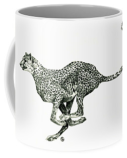 Running Cheetah Coffee Mug