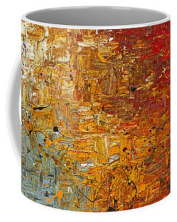 Coffee Mug featuring the painting Running Free - Abstract Art by Carmen Guedez