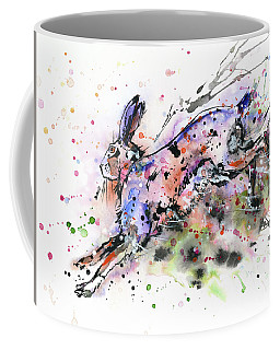 Running Hare Coffee Mug by Zaira Dzhaubaeva