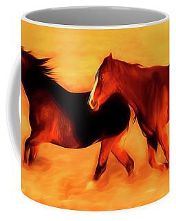 Running Horses 01 Coffee Mug