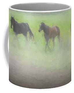 Running Horses Coffee Mug by Elijah Knight
