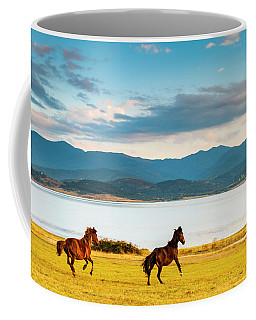 Running Horses Coffee Mug