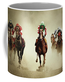 Running Horses In Dust Coffee Mug