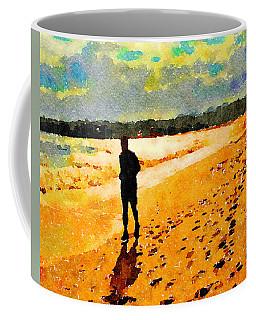 Running In The Golden Light Coffee Mug