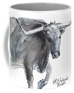 Running Texas Longhorn Watercolor Painting By Kmcelwaine Coffee Mug