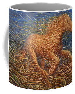 Running Swirly Horse Coffee Mug