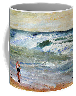 Running The Beach Coffee Mug