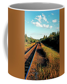 Rural Country Side Train Tracks Coffee Mug