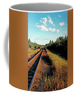 Rural Country Side Train Tracks Coffee Mug