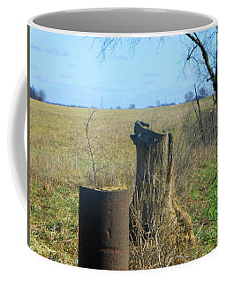 Coffee Mug featuring the photograph Rural Fencing by Tina M Wenger