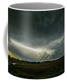 Rural Spring Storm Over Chester Nebraska Coffee Mug by Art Whitton