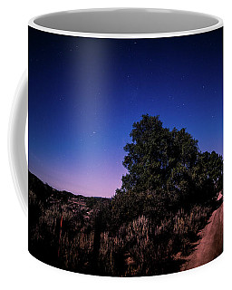 Rural Starlit Road Coffee Mug