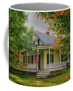 Coffee Mug featuring the photograph Rural Vermont Farm House by Deborah Benoit
