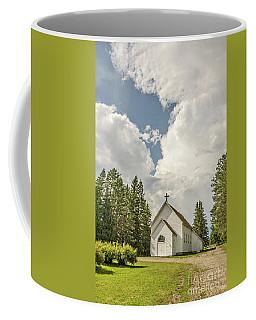 Rural White Church With A Cross Coffee Mug