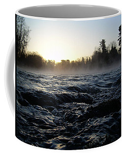 Coffee Mug featuring the photograph Rushing Water In Missississippi River by Kent Lorentzen