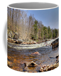 Coffee Mug featuring the photograph Rushing Waters Of The Moose River by David Patterson