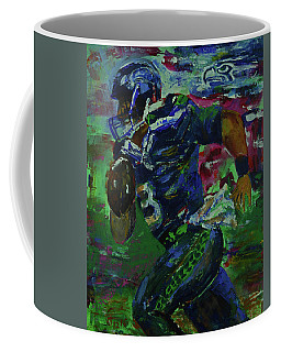 Russell Wilson - Seahawks Football Coffee Mug by Walter Fahmy