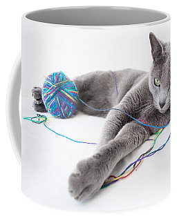 Grey Background Coffee Mugs