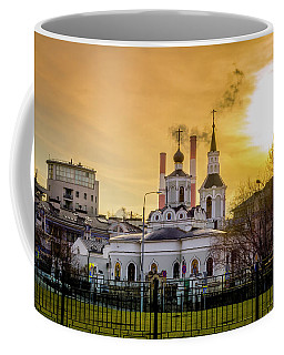 Coffee Mug featuring the photograph Russian Ortodox Church In Moscow, Russia by Alexey Stiop