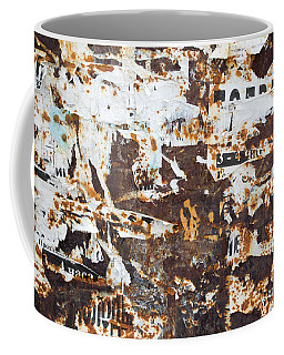 Rust And Torn Paper Posters Coffee Mug by John Williams
