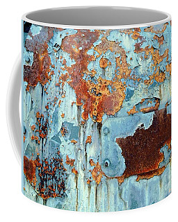 Rust - My Rusted World - Train - Abstract Coffee Mug by Janine Riley