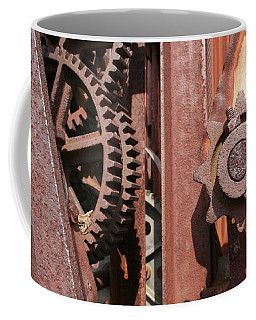 Coffee Mug featuring the photograph Rusted Gears by Dylan Punke