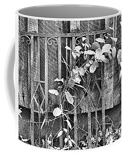 Rusted Wrought Iron And Leaves Coffee Mug