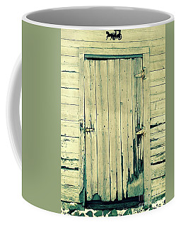 Coffee Mug featuring the photograph Rustic Barn Door by The Art of Alice Terrill