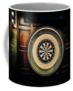 Rustic British Dartboard Coffee Mug