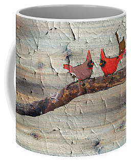Rustic Cardinal Art Coffee Mug