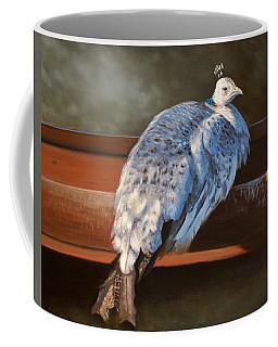 Rustic Elegance - White Peahen Coffee Mug