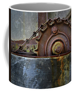 Coffee Mug featuring the photograph Rustic Gear And Chain by David and Carol Kelly
