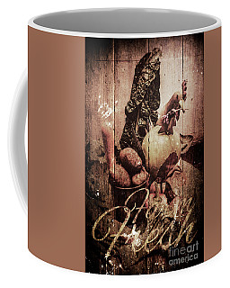 Rustic Kitchen Tin Sign Coffee Mug