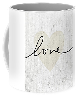 Coffee Mug featuring the mixed media Rustic Love Heart- Art By Linda Woods by Linda Woods
