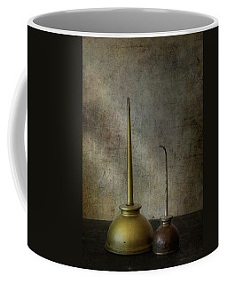 Rustic Machine Oil Cans Coffee Mug by David and Carol Kelly