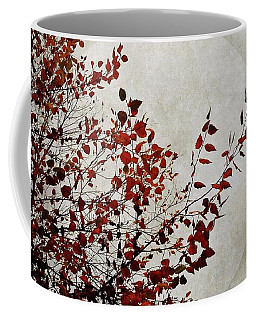 Coffee Mug featuring the mixed media Rustic Moon by Patricia Strand