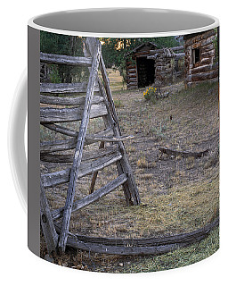 Coffee Mug featuring the photograph Rustic Pioneer History by Leland D Howard