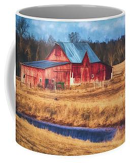 Rustic Red Barn Coffee Mug