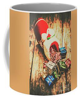 Rustic Red Xmas Stocking Coffee Mug