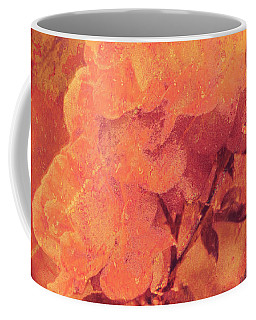 Coffee Mug featuring the digital art Rustic Textured Roses  by Fine Art By Andrew David
