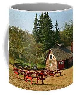 Coffee Mug featuring the photograph Blacksmith Shop - Bar U Ranch  by Ola Allen