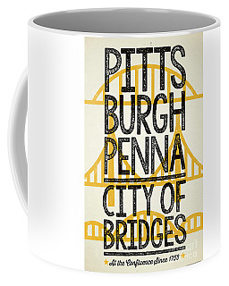 Rustic Style Pittsburgh Poster Coffee Mug