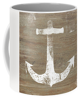 Rustic White Anchor- Art By Linda Woods Coffee Mug