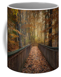 Coffee Mug featuring the photograph Rustic Woodland by Robin-Lee Vieira