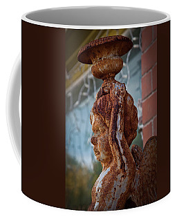 Coffee Mug featuring the photograph Rusty Angel by Linda Unger