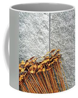 Rusty Iron Flowers On Granite Background Coffee Mug